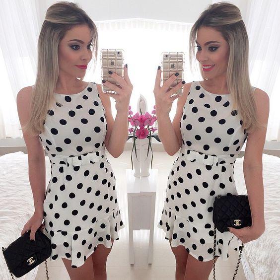 3, 2, 1. Esse vestido é a minha cara!!! Apaixonada @musebrasil! Vestido Poá com Lacinho na cintura: tipo... mto EU❤️ Vcs arrasam mtoooo @musebrasil _ _ #geamericano @musebrasil