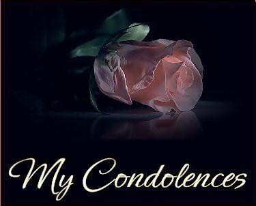 My Condolences Quotes Images
