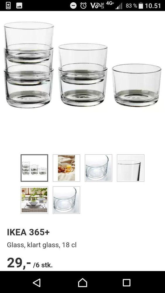 10 glass fra IKEA og 3 skåler   FINN.no