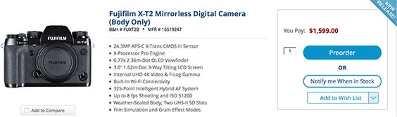 Competition news: Fuji announces the new flagship X-T2 camera #photography