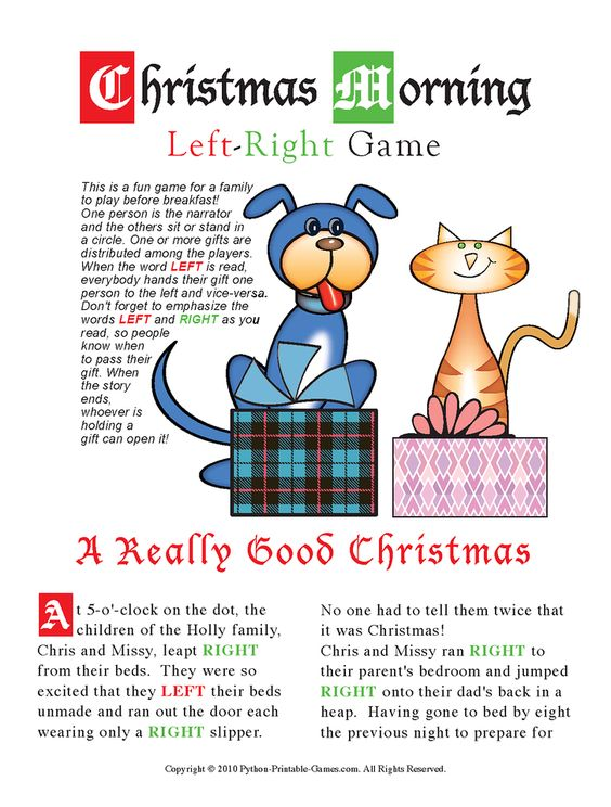Holiday Gift Exchange Games | Printable Games | PartyIdeaPros.com ...