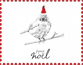 Merry Christmas Card printed on recycled paper by Petits Mots. Canadian Made. See the designer's work at the 2016 American Made Show, Washington DC. January 15-17, 2016. americanmadeshow.com #americanmadeshow, #canadianmade, #notecard, #recycled, #christmascard, #christmas, #xmas, #bird