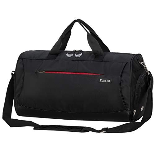 Kuston Sports Gym Bag With Shoes Compartment Travel Duffel Bag For