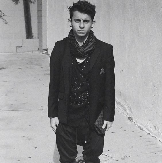 """Now he looks like this: 