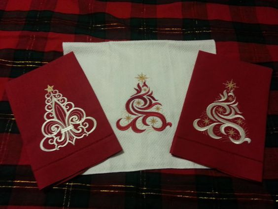Check out this item in my Etsy shop https://www.etsy.com/listing/162020323/christmas-kitchen-linen-towel-in-a