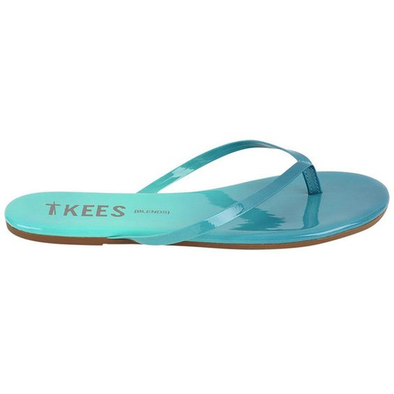 TKEES Flip Flops BLENDS ($50) ❤ liked on Polyvore featuring shoes, sandals, flip flops, tkees, tkees sandals, tkees shoes, flip flop shoes and ombre shoes