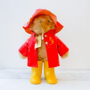 Raincoat Paddington Bear | fab.com | loved Paddington Bear when I was a kid - read and re-read the books.