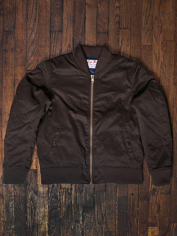 Left Field NYC — Dark Chocolate Brown Twill Flight Jacket