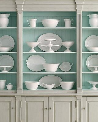 Color ideas for the dining room piece:  blue, gray, white
