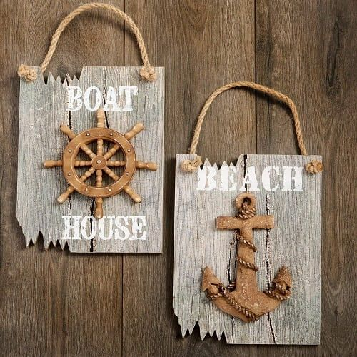 100 Nautical Wooden Signs Nautical Wood Wall Decor With Images