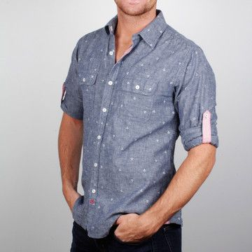 Anchor Button-Up Shirt  by BTNS
