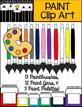 Thank you for purchasing my PAINT Clip Art! These fun paint clip art images will enhance any of your products! I have included 12 colors/1 blackline paintbrushes, 12 paint jars, and 3 paint palettes for your use.  There are 28 images in all!Just unzip, and the images are yours to use.