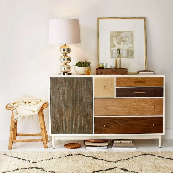 ChicDecó: Muebles de madera con diseños patchworkPatchwork wooden furniture