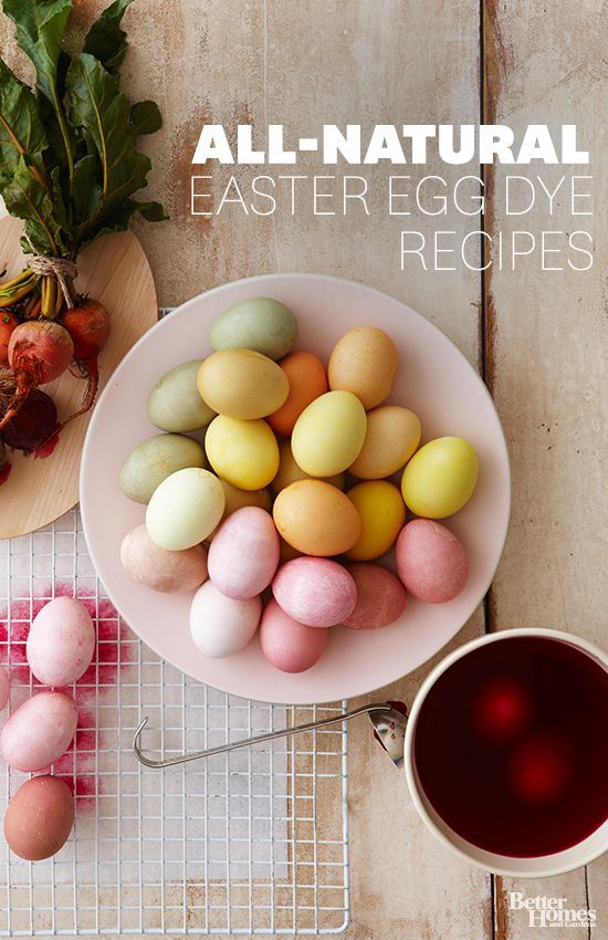 All Natural Easter Egg dye Recipes