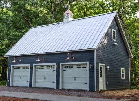 Legacy 2 Story Workshop Three Car Prefab Garage Photo Gallery Garage Exterior Prefab Garages Garage Plans Detached