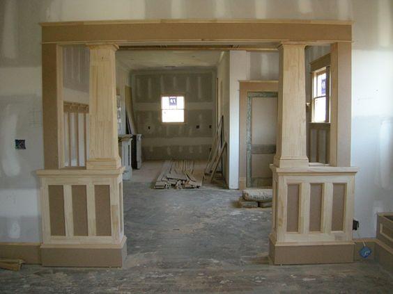 Craftsman trim ontario craftsman and interior columns for Cottage style interior trim