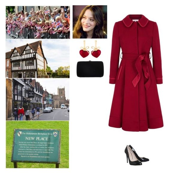"""""""Visiting Shakespeare's New Place and the newly restored Tudor Nash's House next door, Chapel Street, Stratford-upon-Avon, Warwickshire."""" by new-generation-1999 ❤ liked on Polyvore featuring Avon, KDIA and Sergio Rossi"""