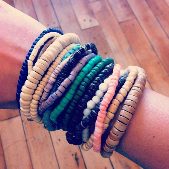 Wearing a lot of seashell bracelets at once is kind of like having an #armparty on the beach. #urbanoutfitters