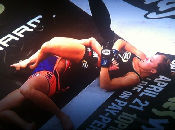 Ronda Rousey's arm bar = the most lethal move in any sport... ever.   Tap out you crazy girl!