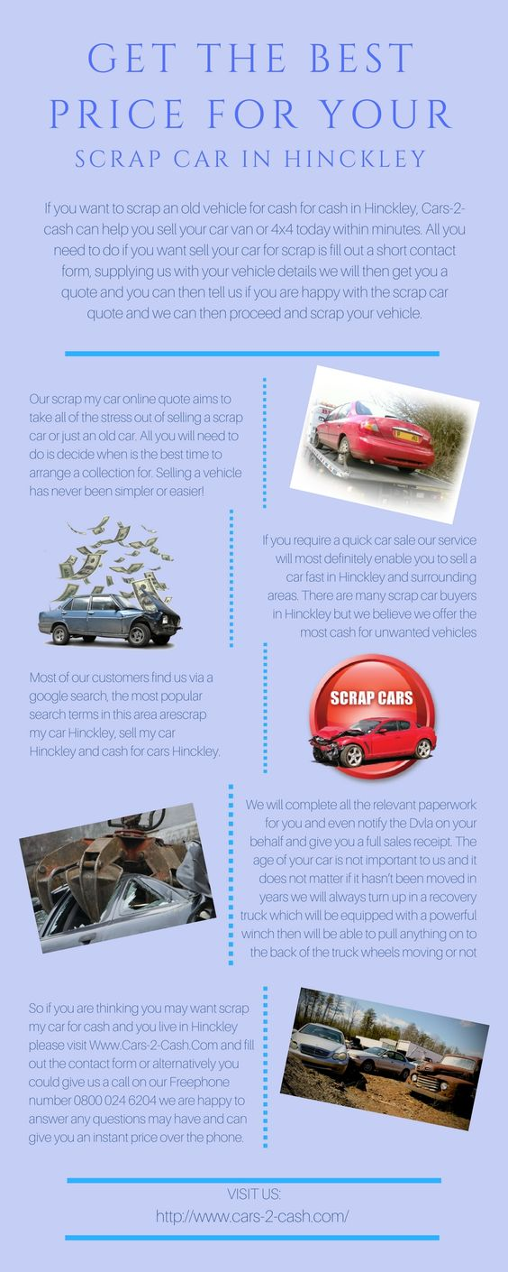 Cash For Cars Online Quote Worried About The Right Time To Sell Your Scrap Car We've Got You