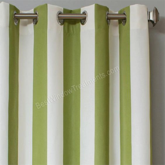 Sunbrella Stripe Outdoor Curtain Panel available in 7 colors ...