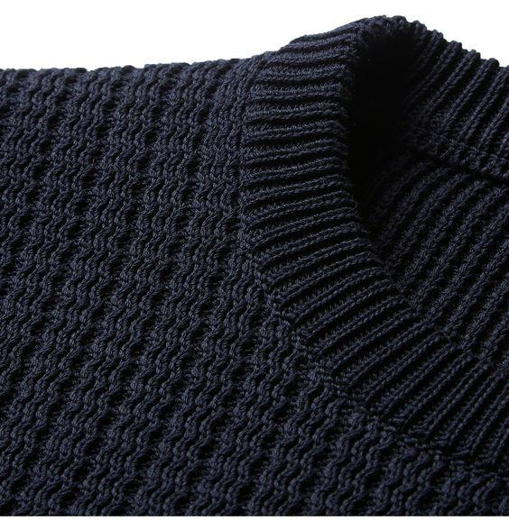 Lanvin - Ribbed-Knit Cotton Sweater | MR PORTER