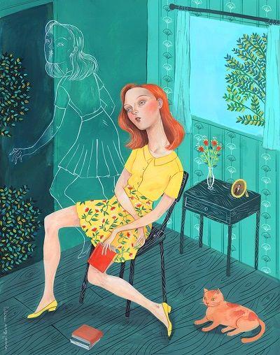 ilustración por Helena Perez Garcia | arte y dibujo, ilustraciones bonitas femeninas tristes de soledad, cool art illustration, a r t, coolstuff | iconoCero