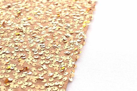 "Gold Sequin Table Runner - 14"" x 108"""