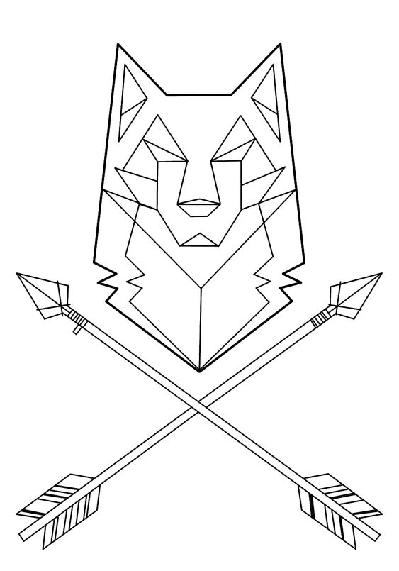 Geometric Line Drawing Artists : Wolf tattoo geometric buscar con google tatoos