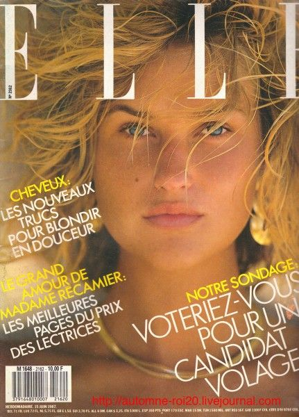Michele Eabry - Elle France June 1987 by Gilles Bensimon: