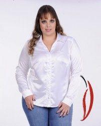 www.tamanhosespeciais.com.br Camisa Cetim strech tamanhos grandes 48 50 52 54