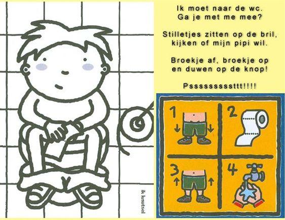 versje wc thema op het potje toiletten
