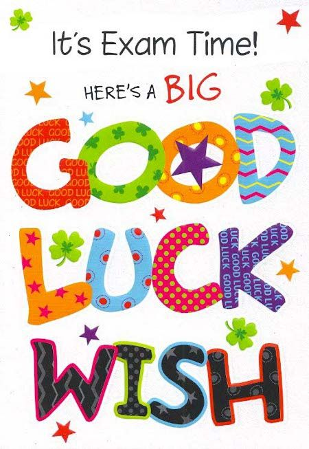 Best of luck for your exam Exam Wishes – Best Wishes for Exams Cards