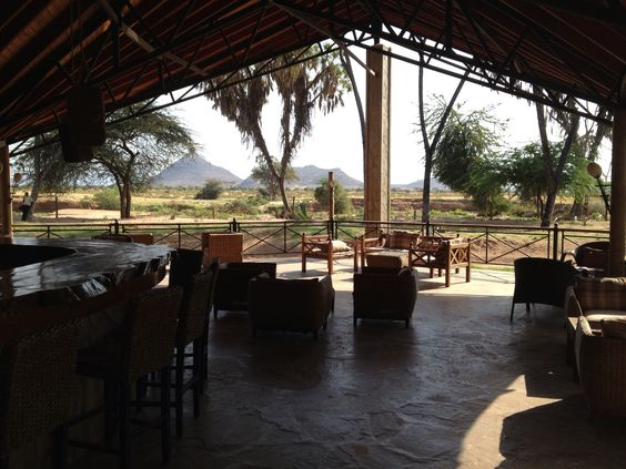 Safari camp lobby