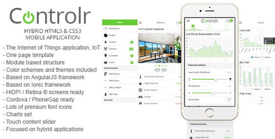 Controlr - Smart House Hybrid Application Template  Controlr is a - application template