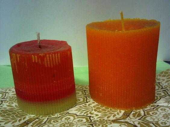 #velas con aroma de naranja y fresa