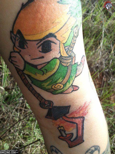 Windwaker tattoo! Cuuuute.