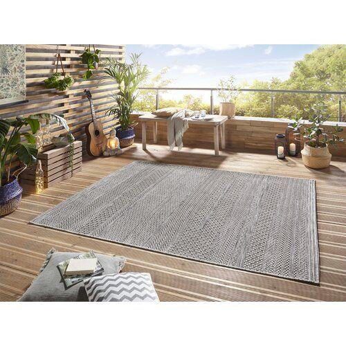 Marne Grey Indoor Outdoor Rug Elle Decor Size Rectangle 194 X