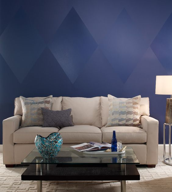The depths grains and living rooms on pinterest for Different ways to paint walls