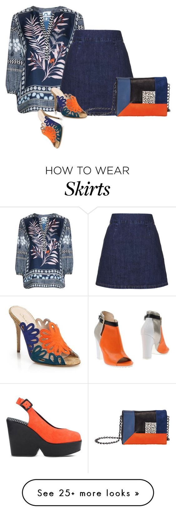"""skirt, top, shoes, bag"" by lovetodrinktea on Polyvore featuring Diane Von Furstenberg, Robert Clergerie, Arktè, Topshop, Longchamp, Oscar de la Renta, women's clothing, women's fashion, women and female"