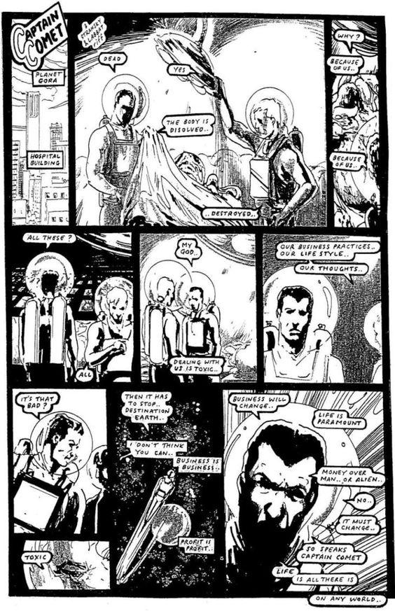 COMIC BITS ONLINE: Captain Comet -Protocols