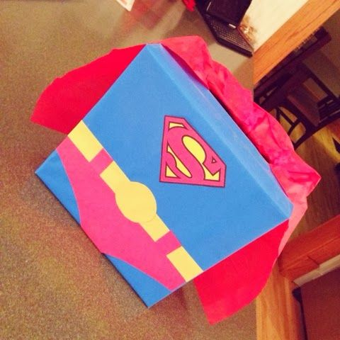 superman valentines box i made for my nephew valentineu0027s day kids valentines day box
