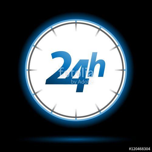 Vektor: 24 Stunden rund um service