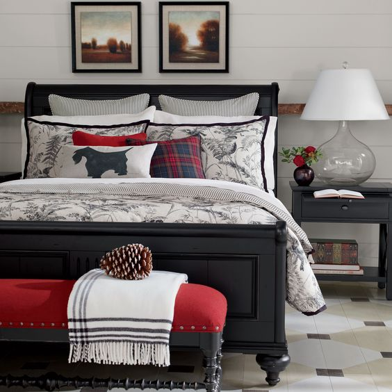 Vintage Country Bedroom. Black And White Bedroom. Ethan