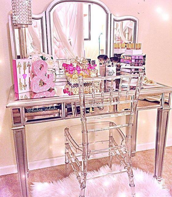 Clear Chivari chair for vanity