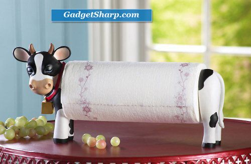Decorative country cow paper towel holder cow kitchen decor pinterest beautiful mom and - Kitchen cow theme ...