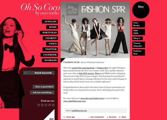 http://oh-so-coco.tumblr.com/ using Style Hatch Premium Tumblr theme mars.stylehatch.co