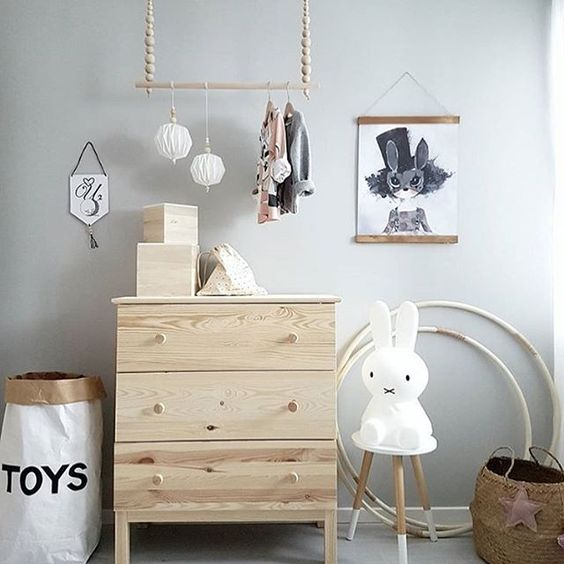 Love this beautiful kid's room by @johannasdagar 👈🏻 Miffy lamp available online. . #kidsroom #kidsroomdecor #nordichome #nordicinspiration: