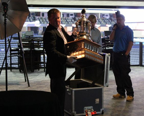 The Vezina at new season ticket holder event @Columbus Blue ...