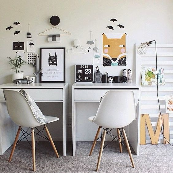 Crafted from durable ABS plastic, Eames style chairs are great for the kids thanks to their wonderfully wipe clean surface.